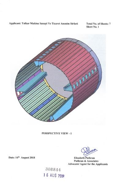 WASHING MACHINE DRUM – INDIA CERTIFICATE OF REGISTRATION OF DESIGN – Page 2