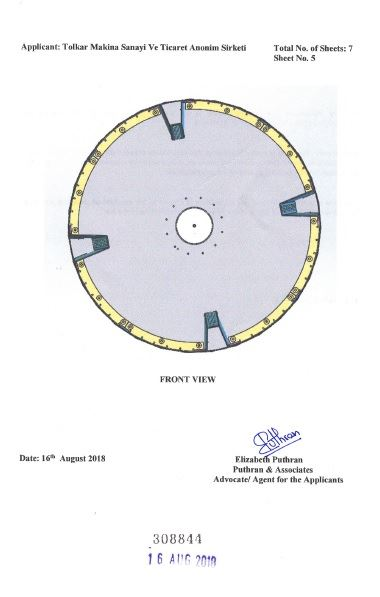 WASHING MACHINE DRUM – INDIA CERTIFICATE OF REGISTRATION OF DESIGN – Page 6