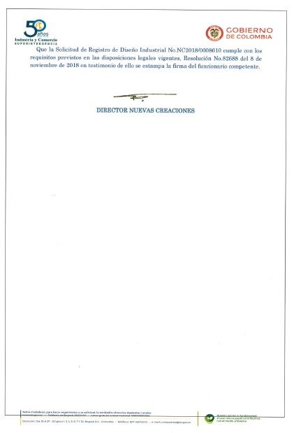 WASHING MACHINE DRUM – COLOMBIA INDUSTRIAL DESIGN REGISTRATION CERTIFICATE – Page 4